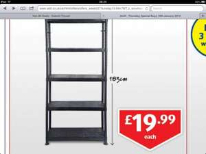 Garage / shed shelving £19.99 rrp £39.99 at Aldi- 4 shelves