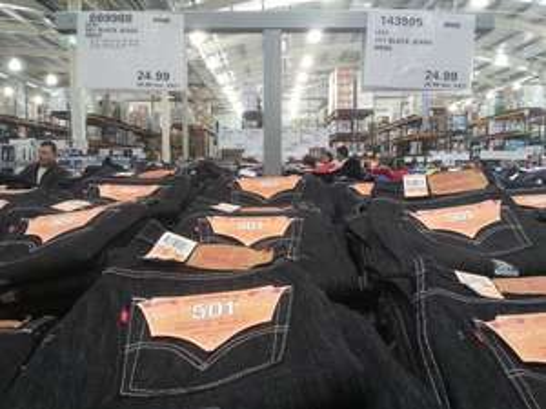 Levi's 501 black jeans mens £29.98 in store Costco