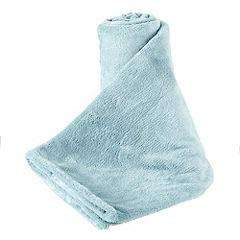 Sainsburys TU Duck Egg Fleece Throw was £14 now £3.50