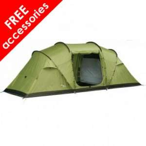 Vango 8 Berth Tent + Free Accessories worth £140 = 3 Way Mains Unit , double airbed and lantern £199.99 @ outdoorworld