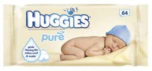 Huggies pure wipes 64 buy one get two free at co-open £2.89 untill 15th of Jan at Co-op