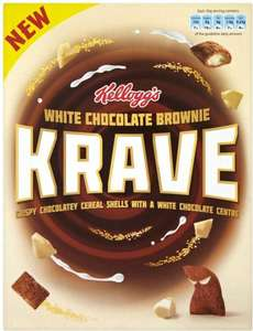 Kellogg's Krave White Chocolate Brownie (375g) was £2.69 now £1.34 @ Tesco