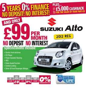 Suzuki Alto 2012 Plate £5940 0% interest, no deposit £99 per month over 5 years at Chapelhouse