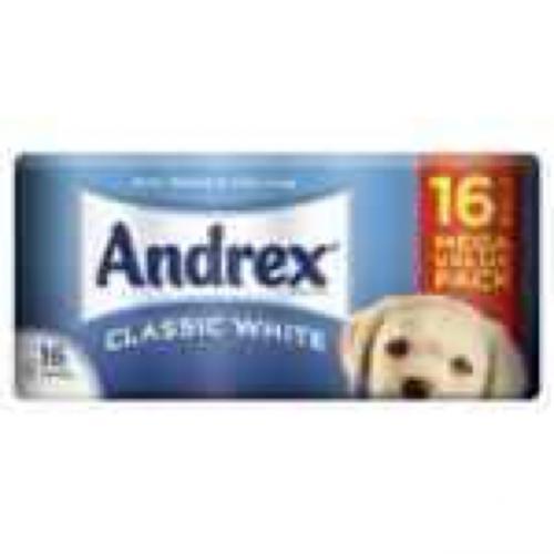 16 Andrex toilet rolls @ £6 in Sainsburys