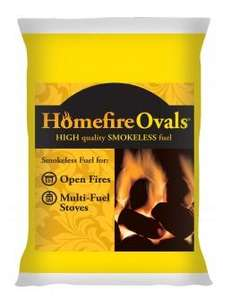 Homefire Ovals 25KG bags - £11.15  free delivery on orders over 7 bags @ Cheap coal