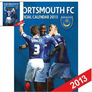 Portsmouth FC 2013 Wall Calendar £4.79 + P&P CalenderClub.co.uk