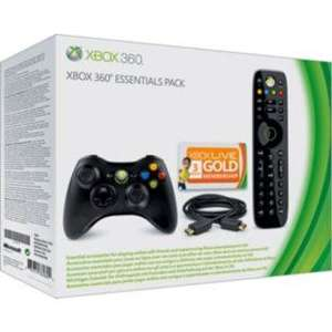 Xbox 360 Essentials pack (Wireless controller, 3 months live, media remote, hdmi cable) £32.99 @ Argos