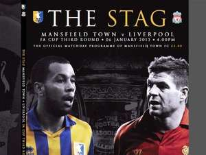 Official Mansfield v Liverpool FA Cup Match Day Programme