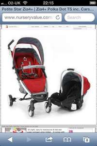 Petite Star Zia 4+ and car seat delivered for £136.98 by Nursery Value