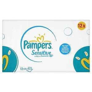 Pampers Sensitive Baby Wipes 12  Packs £8.98 subscribe and save @ Amazon