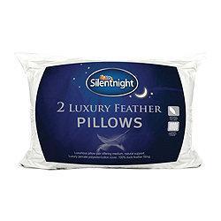 Silent night luxury feather pillows £13 @ Tesco
