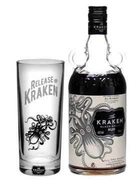 Kraken Black Spiced Rum FREE Kraken glass £21.95 plus delivery @ The Whisky Exchange