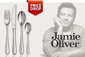 Jamie Oliver 32-Piece Stainless Steel Cutlery Set from £27.99 (Up to 63% Off) £5.99 postage at Groupon james-russell.co.uk