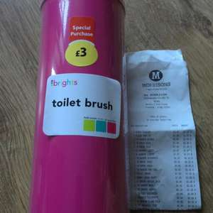 Toilet brush £1 at morrisons pink or blue