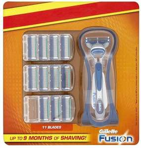 Gillette Fusion Razor with 11 blades £10 in Sainsburys