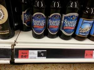 Samuel Adams (Imported US version) 355ml bottles only £1! at Sainsbury's