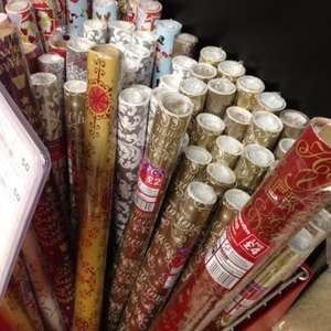 Christmas and Happy New Year Gift Wrapping Paper 6M for 50p instore @ Co-Operative