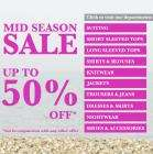 Midseason Sale up to 50% or 20% off, plus free P&P and returns @ Long Tall Sally
