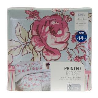 Fashion Assorted Floral King Duvet Set for £1.00 @ B&M