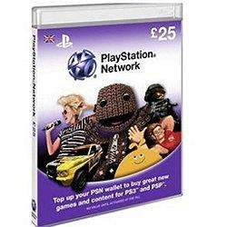 Playstation network £25 card for £11.91 in store currys