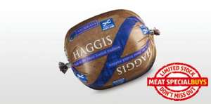 Fresh Haggis 454g for £1.29 at Aldi from 17th January