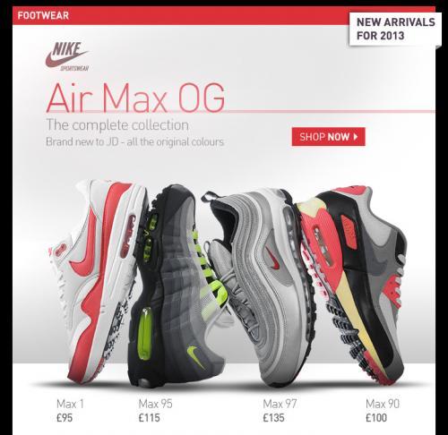 Nike Air Max 95's *from* £ 65.00 at JD Sports