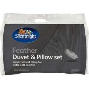 Silentnight feather duvet and pillow.argos was £34.99 now £19.99