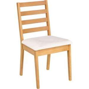 Four Slatted Back Oak Chairs - Cream - £59.98 plus £8.95 delivery @ Argos
