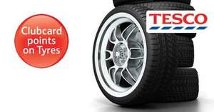 QUADRUPLE Tesco Clubcard points on Goodyear and Dunlop tyres. blackcircles.com