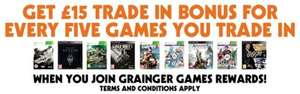 £15 Extra Credit For Trading In 5 Games @ Grainger Games