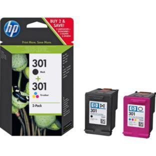 HP 301 black and tri colour pack £16.99 @ Argos