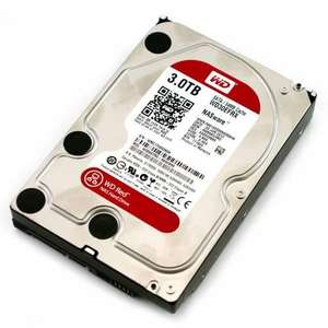 Western Digital Red 3TB SATA3 hard drive  £119.99 inc free delivery at Overclock