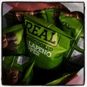 Real crisps jalapeno flavour only 19p a packet at home bargains instore.