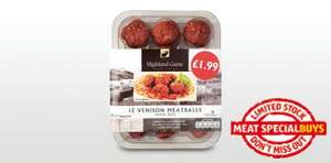 Venison Meatballs £1.99 From 17th Jan @ Aldi