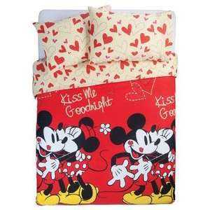 Mickey and minnie double duvet set £12.43 @ Tesco