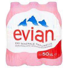 Evian Natural Mineral Water 6X500ml Pack Was £2.25 Now £1 @ Tesco