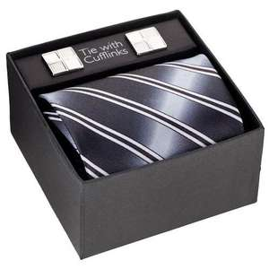 Tie and Cufflinks Set in Poundland