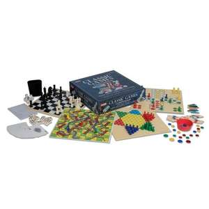 Ideal Classic Games Compendium (100 games inc Backgammon, Chess, Chinese Chequers, Dominoes, Solitaire, Draughts, Yahtzee) now £7.50 del @ Amazon