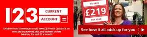 Santander 123 account, CASHBACK on household bills!