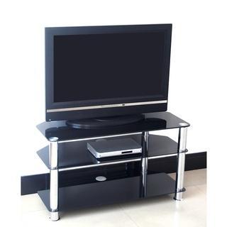 Black 75cm Glass TV Stand £29.99 @ B&M Instore