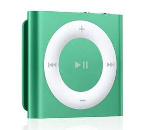 New iPod shuffle 2gb 4th gen in Green, Purple and Yellow £29.99 @ Currys