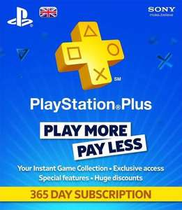 PlayStation Plus - 1 Year Subscription Card £29.99 @ Sainsburys Instore