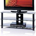 "Red TVS3 Black Glass TV Stand for TVs up to 47"" £34.99 @ Sainsbury's"