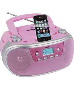 Bush Portable CD Player with iPod Docking - Pink £29.99 @ Argos