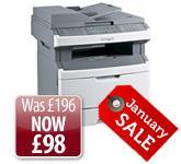 Lexmark X264dn Multifunction Mono Laser Printer (print/fax/copy/scan) £117.88 @ Printerbase