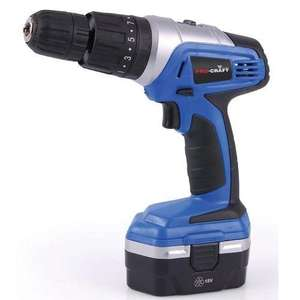 Pro-craft 18v Cordless Hammer Drill/ Driver £14.99 @ Robert Dyas - in store