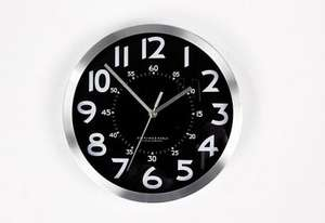 ASDA Metal Wall Clock.  Half Price. £3 instore / online