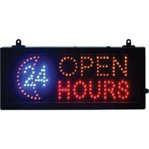 LED 24 Hours Open Sign from Nisbets £11.98 (inc tax n del) was £39.99
