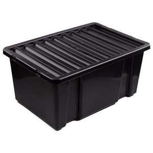 Plastic Storage Box With Lid 14Litres - £1 at Poundland