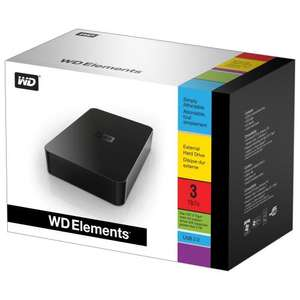 WD Elements External Desktop Hard Drive 3TB USB 2.0 £92.99 @Amazon